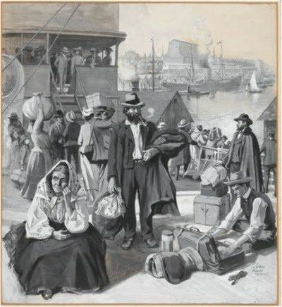Début de l'immigration en provenance du Royaume-Uni