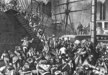 Début de l'immigration provenant du Royaume-Unis