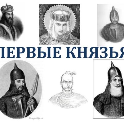 Первые русские князья timeline