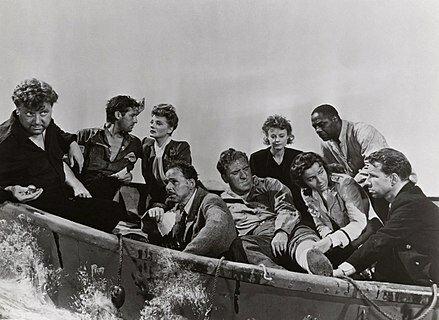 """Lifeboat"" por Alfred Hitchcock."