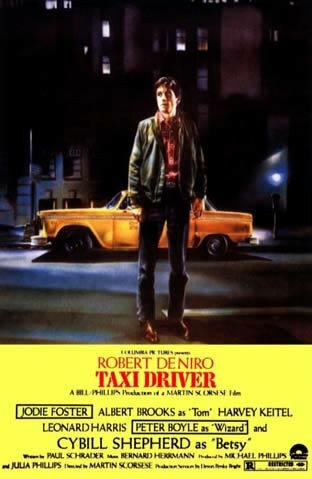 """""""Taxi Driver"""" por Martin Scorsese."""