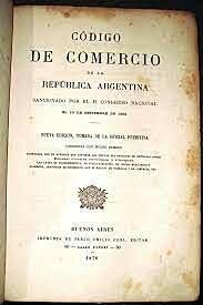 Sanción del Código de Comercio de 1862