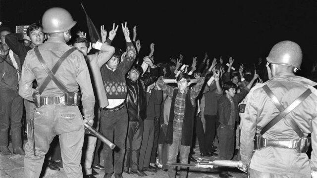 La policía y el ejército llegan a la manifestación