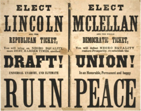 Abraham Lincoln defeats George McClellan to win re-election