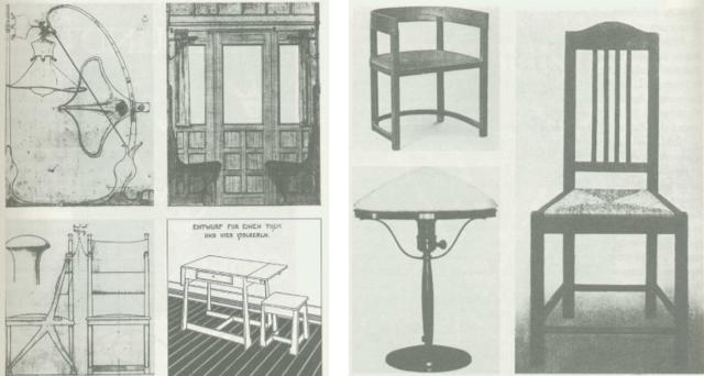 Muebles y objetos del catálogo de 1912