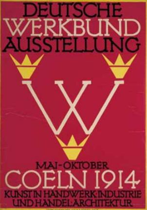 Cartel de la exposición del Deutscher Werkbund e Colonia