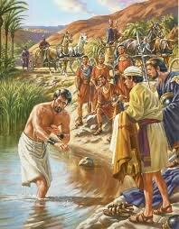 Elisha cures Naaman