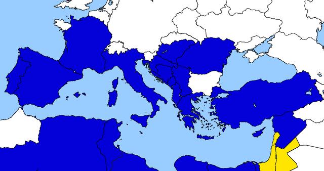 Entrata del Libano, della Giordania e della Federazione Israelo-Palestinese nella Unione Euro-Mediterranea.