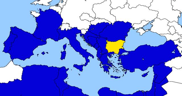 Entrata della Bulgaria nell'Unione Euro-Mediterranea.