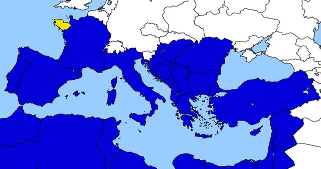 Entrata della Bretagna nell'Unione Euro-Mediterranea.