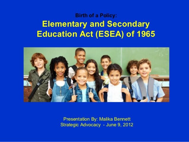 Elementary and Secendary Act