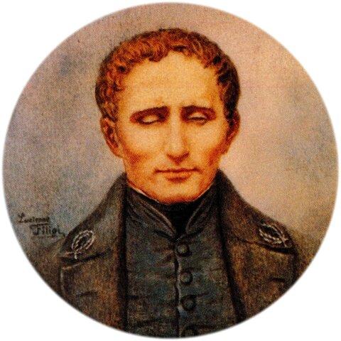 Louis Braille invents raised point alphabet
