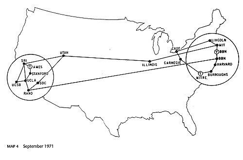 Surge Internet con el nombre de ARPANET