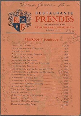 Se fundó el restaurante Casa Prendes
