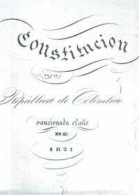 Constitución de Cúcuta 1821