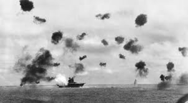 Japan defeated at Battle of the Coral Sea