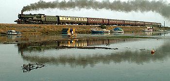 Primer ferrocarril a vapor en Inglaterra.