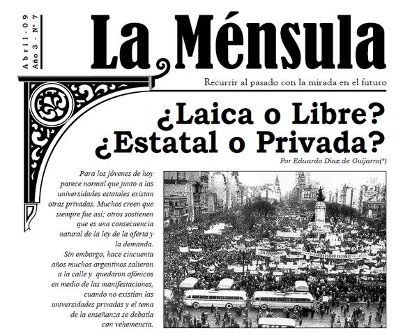 """Sanción de la Ley Nro. 14557, denominada """"Domingorena"""""""