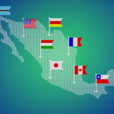 Principales acontecimientos históricos en  México en el contexto internacional timeline
