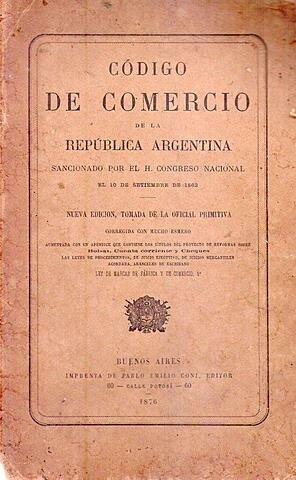 Principales Reformas del Código de Comercio de 1862.