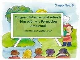 Congreso internacional sobre educación y formación ambiental.