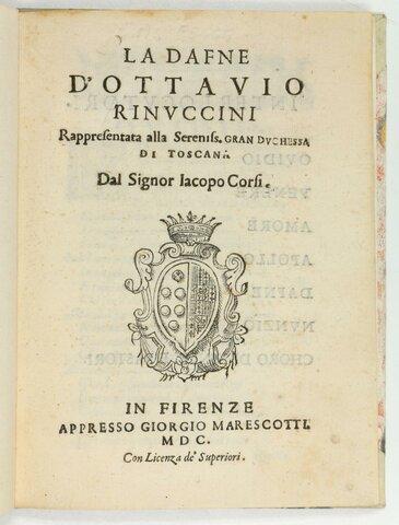 Jacopo Peri: Dafne