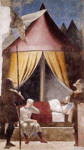 Piero della Francesca, Sogno di Costantino