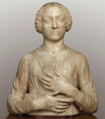 Andrea del Verrocchio, Dama col Mazzolino