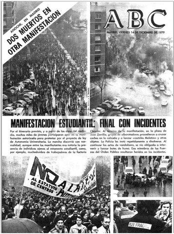 Incidentes universitarios en Madrid.