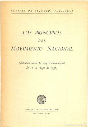Ley de Principios del Movimiento Nacional.