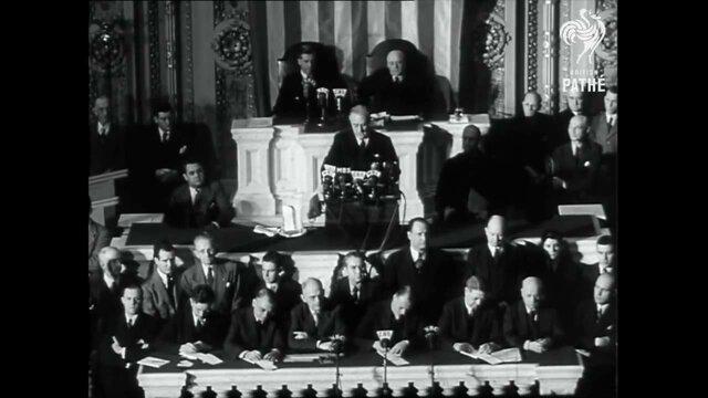 EE.UU declara la guerra a Japón. Discurso de Infamia de Roosevelt