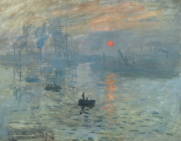 Impresión sol naciente, Monet (1872)
