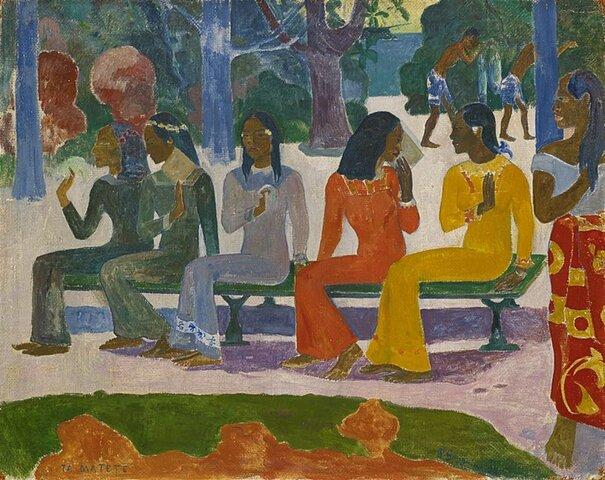 El mercado, Gauguin (1891-1893)