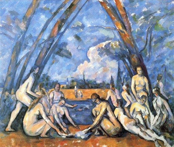 Las grandes bañistas, Cezanne (1906)
