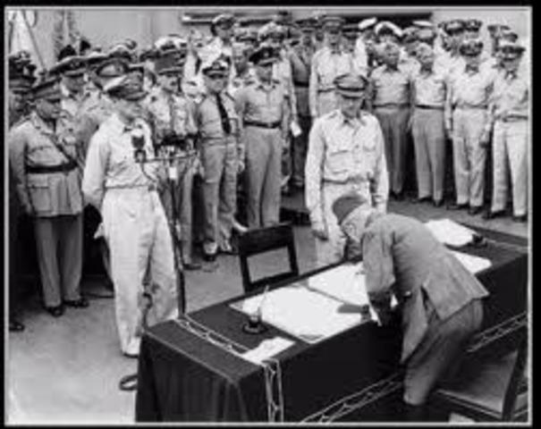 Japan Surrenders. WWII ends