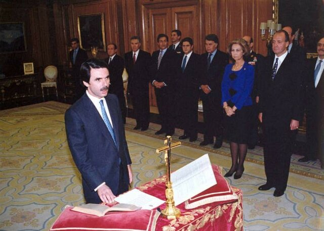 Posesion como presidente del gobierno Aznar