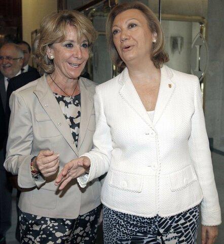 Luisa Fernanda y Esperanza Aguirre