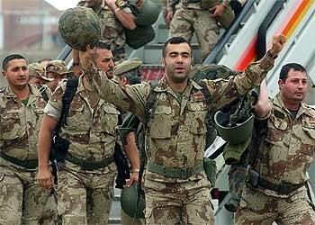Regreso tropas españolas