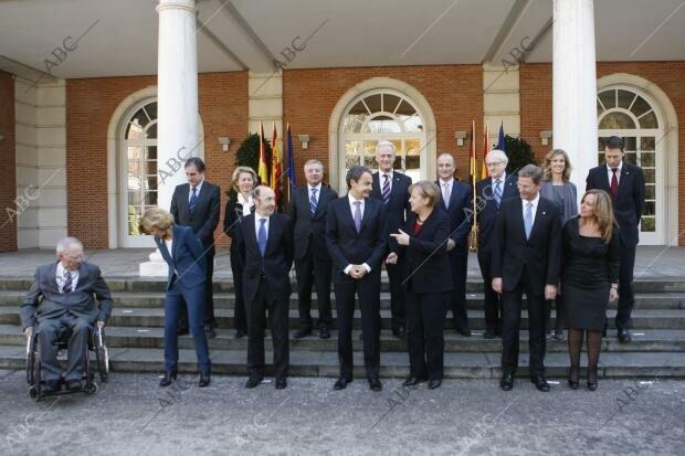 Cumbre hispano-franco-alemana en La Moncloa