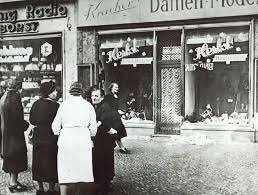 Looting Jewish Owned Stores.