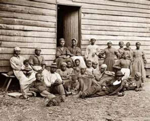 1619 - Twenty slaves in Virginia Africans brought to Jamestown are the first slaves importedinto Britain's North American colonies.