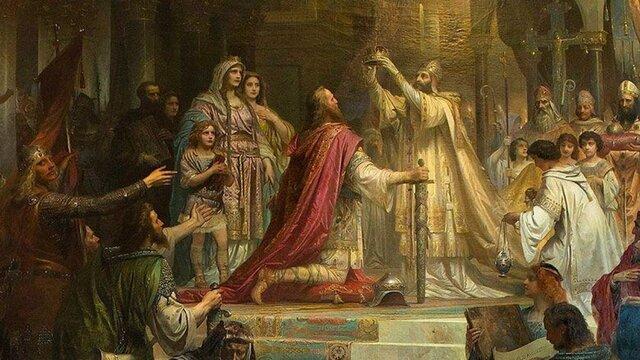 Carlomagno es coronado por el Papa León III