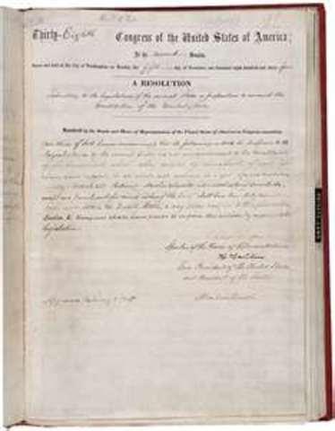 13th Amendment - Abolition of Slavery