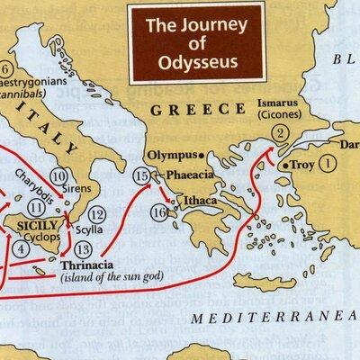 «14 Σταθμοί στη ζωή του Οδυσσέα» timeline