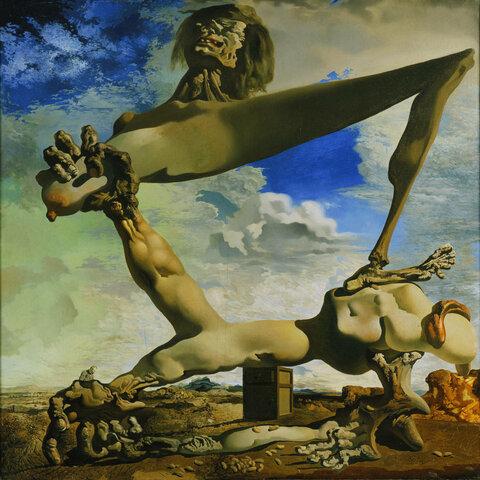 Construcción blanda con judías hervidas, Dalí