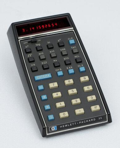 La primera calculadora de bolsillo