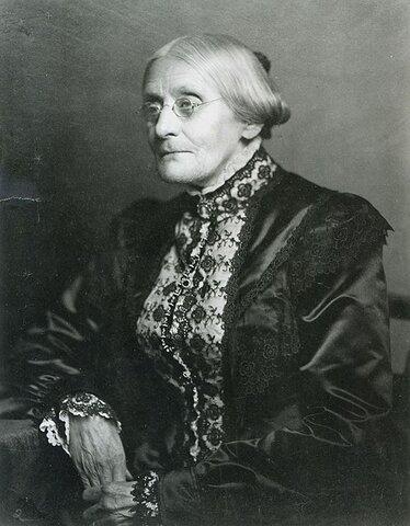 Susan B. Anthony. (1820-1906).