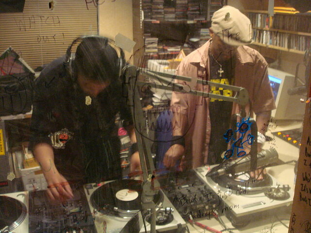 The first DJ battle.