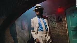 Michael Jackson does the moonwalk