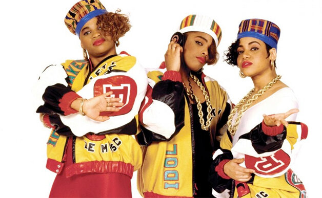 Salt-n-Pepa enters as one of the first female rap groups.